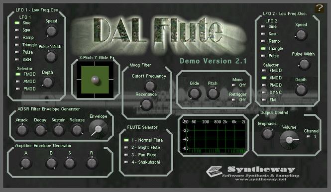 DAL Flute VSTi Screenshot
