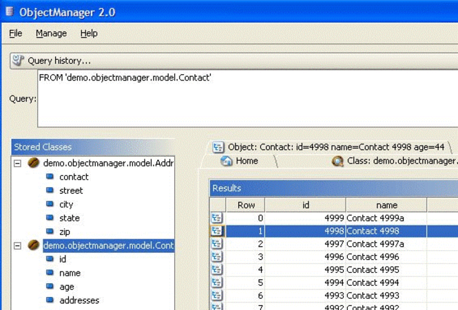 db4o for Mono Screenshot