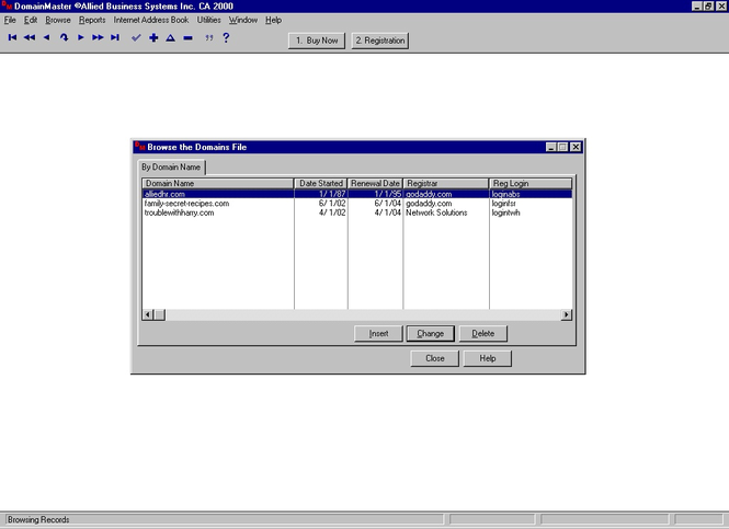 DomainMaster Screenshot