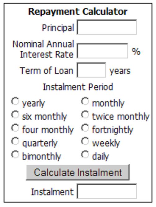 Online Loan Repayment Calculator Screenshot 1