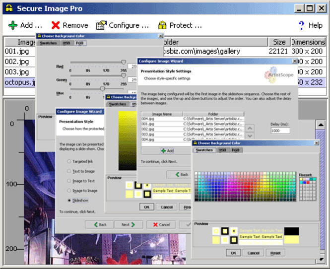 Secure Image Pro Linux Screenshot