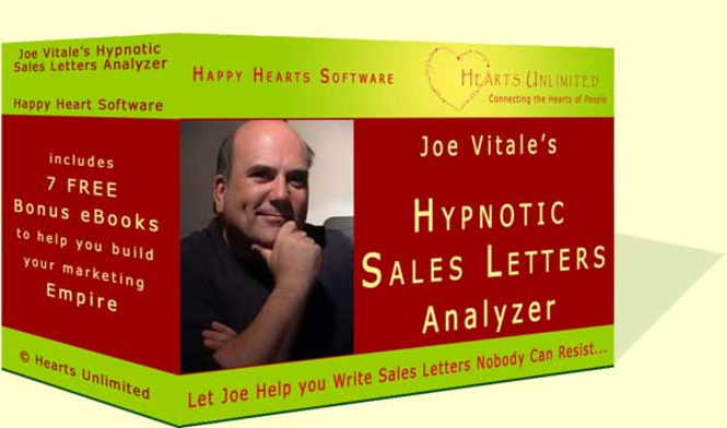 Joe Vitale's Hypnotic Sales Letter Analyzer Screenshot