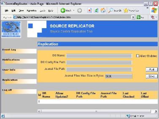 SourceReplicator Screenshot 1