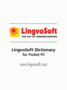 LingvoSoft Gold Talking Dictionary English <-> Albanian for Pocket PC 2