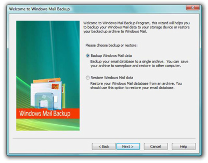 Outlook Express Backup Plus Screenshot