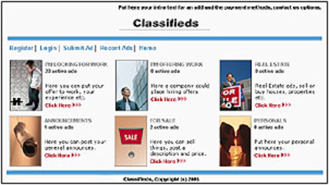 Spice Classifieds Standard Screenshot