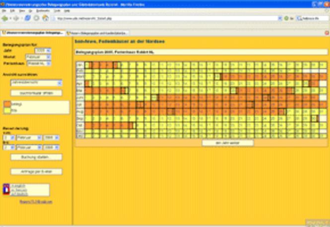 REZERVI Belegungsplan und Kundendatenbank Screenshot