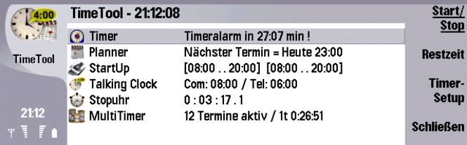 TimeTool f. Serie 80 Communicatoren (deutsch) Screenshot