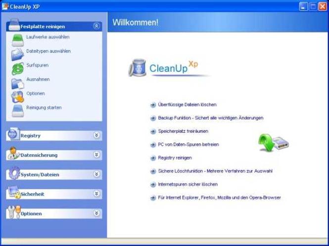 CleanUp XP Firmen-Lizenz bis 10 Arbeitsplätze Screenshot 1