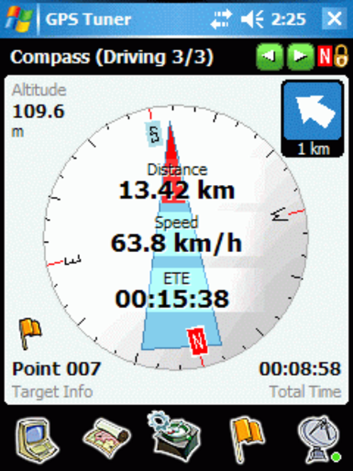GPS Tuner Upgrade Screenshot