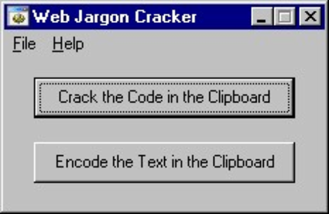 Web Jargon Cracker Screenshot