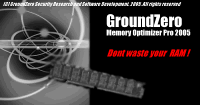 GroundZero RAM Optimizer Pro 2005 Screenshot