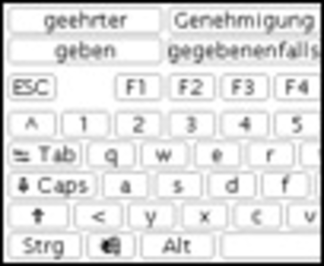 beKEY deluxe on-screen keyboard Screenshot