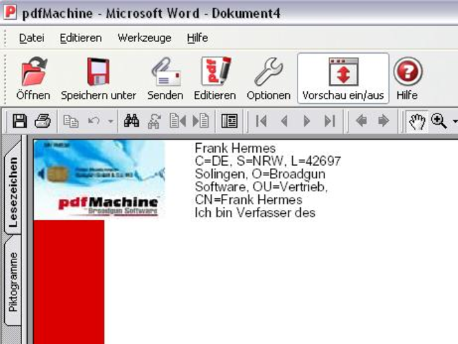 pdfMachine Signer Screenshot