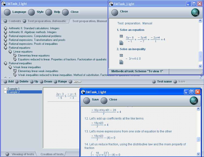 EMTask Algebra short Screenshot