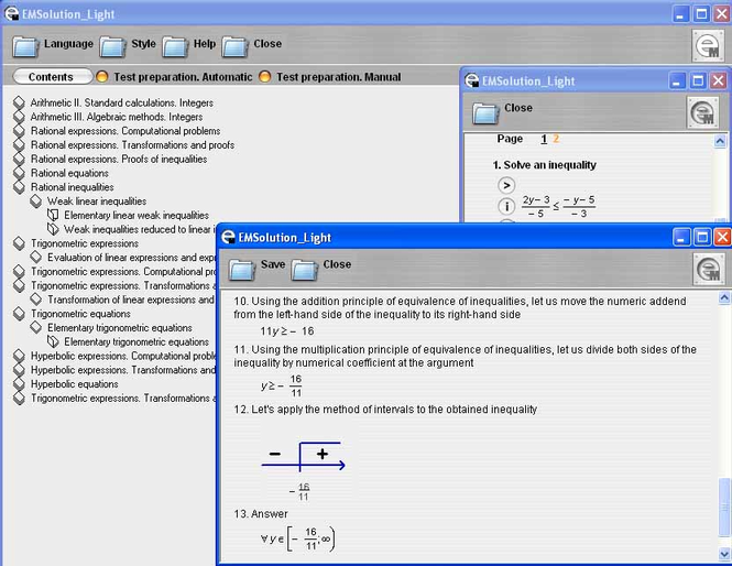 EMSolution Arithmetic Screenshot
