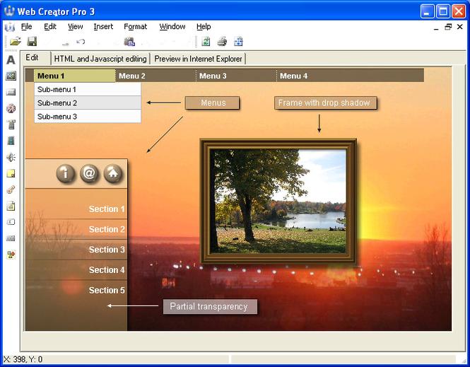 Web Creator Pro Screenshot 1