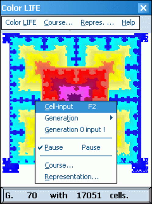 Color LIFE for Pocket PC Screenshot