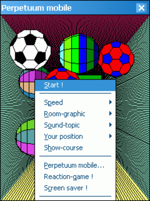 Perpetuum mobile for Pocket PC Screenshot
