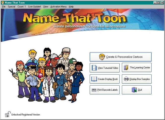 Name-That-Toon Personalized Cartoons Screenshot 1