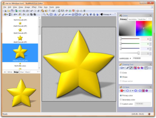RealWorld Designer - Icon Editor Screenshot