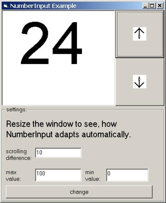 NumberInput ActiveX Screenshot