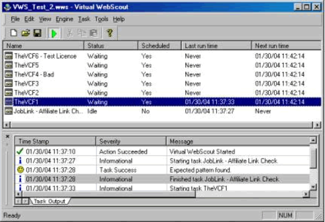 Virtual Web Scout Screenshot