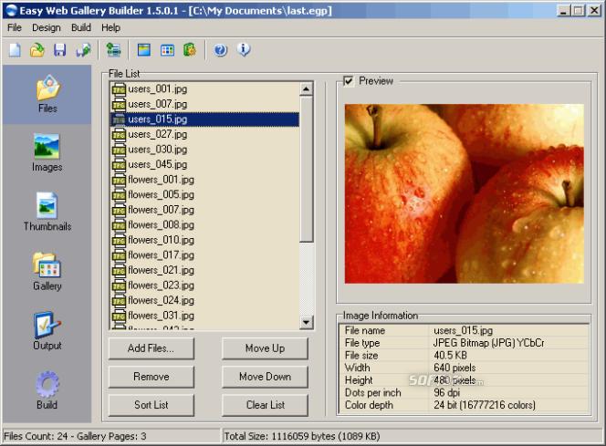 Easy Web Gallery Builder Screenshot 3