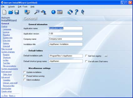 Astrum InstallWizard Screenshot