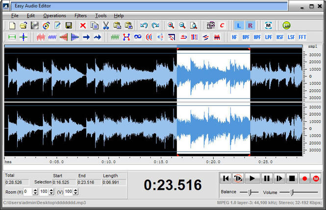 Easy Audio Editor Screenshot