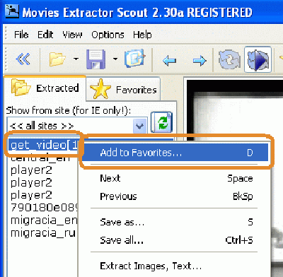 Movies Extractor Scout Screenshot