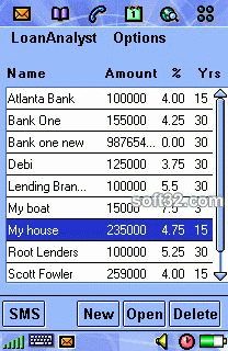 LoanAnalyst (Sony/Ericsson P800/P900) Screenshot 2