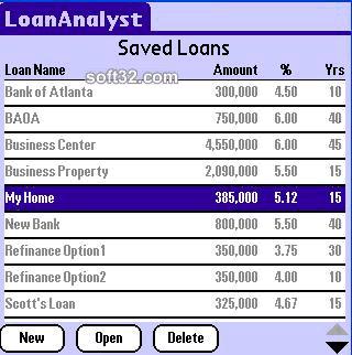 LoanAnalyst (Palm OS High Res) Screenshot 3