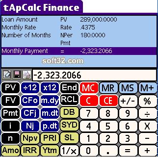 tApCalc Financial tape calculator(Palm High Res) Screenshot 2