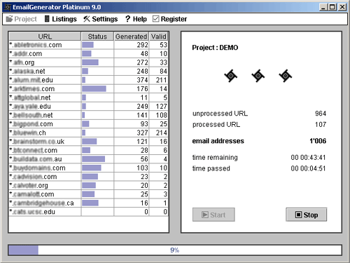 EmailGenerator Platinum Screenshot