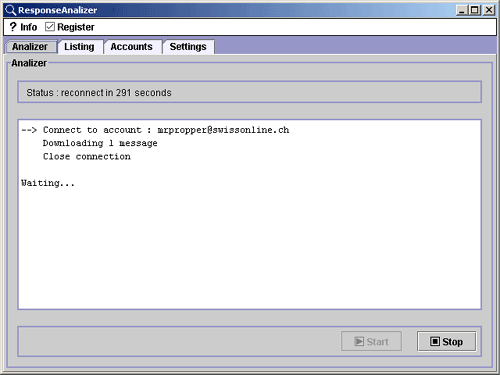 ResponseAnalizer Screenshot