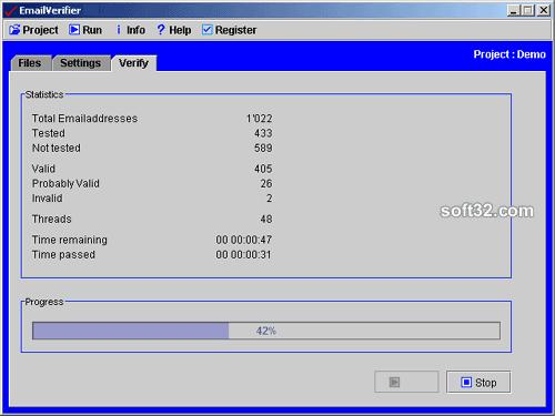 EmailVerifier Screenshot 2