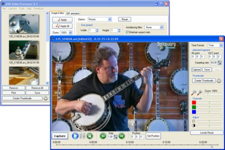 AVD Video Processor Screenshot