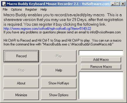 Macro Keyboard Mouse Recorder Wizard Screenshot