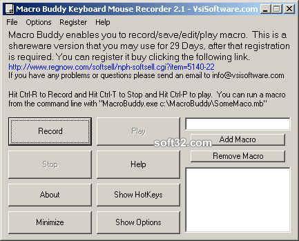 Macro Keyboard Mouse Recorder Wizard Screenshot 2