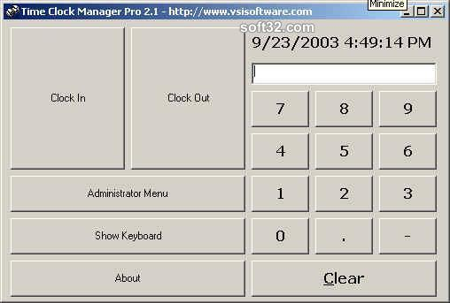 Time Clock Manager Pro Screenshot 2