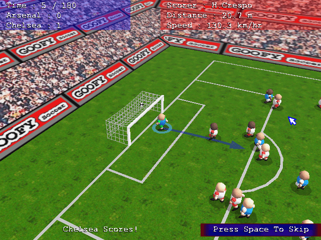 GOOFY Soccer Demo Screenshot