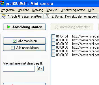 ACX profiSUBMIT Screenshot 1