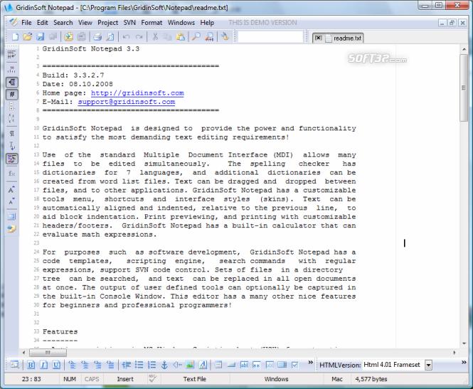 GridinSoft Notepad Screenshot 3
