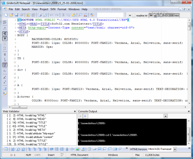 GridinSoft Notepad Screenshot 4