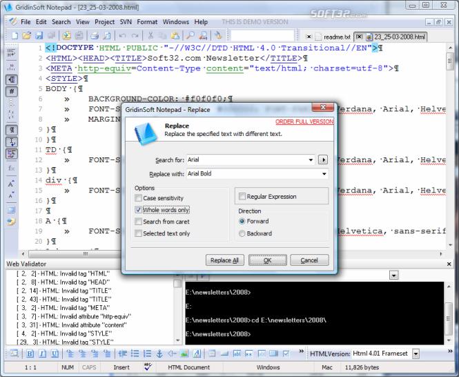 GridinSoft Notepad Screenshot 5