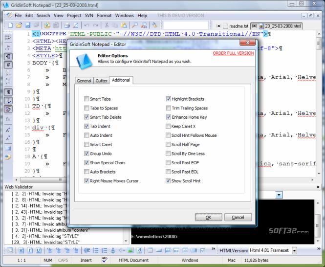 GridinSoft Notepad Screenshot 6