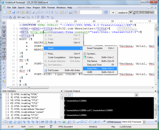 GridinSoft Notepad Screenshot 7