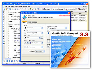 GridinSoft Notepad Screenshot