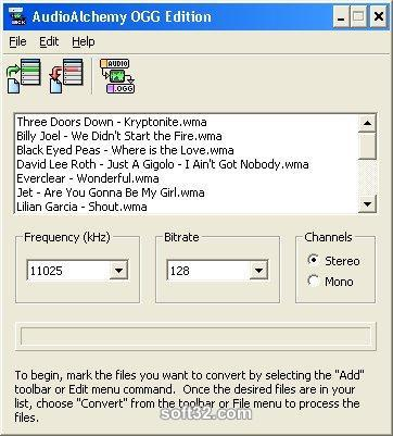 AudioAlchemy OGG Edition Screenshot 3